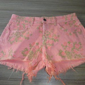 Siwy Camilla Cut-Off Shorts Pink Floral  Size 26